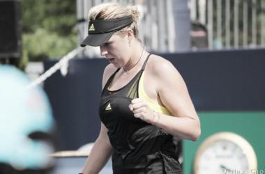 Anastasia Pavlyuchenkova celebrates winning a point | Photo: Max Gao / VAVEL USA Tennis