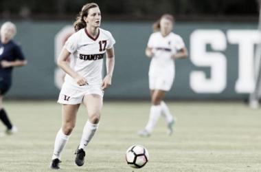 Stanford midfielder Andi Sullivan had an outstanding 2016. (Source: Bob Drebin/ISI Photos)