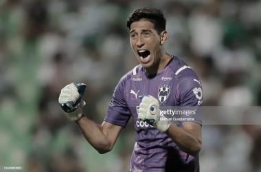 """FIGURA. """"Sabandija"""" Andrada, fue uno de los destacados en el triunfo del Rayados en el derbi contra Tigres. Foto: Getty images"""