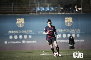 Imagen de Andrea Pereira, jugadora del FC Barcelona Femenino. FOTO: Noelia Déniz