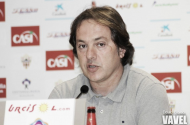 Andrés Fernández en rueda de prensa | Foto: David García, VAVEL.com