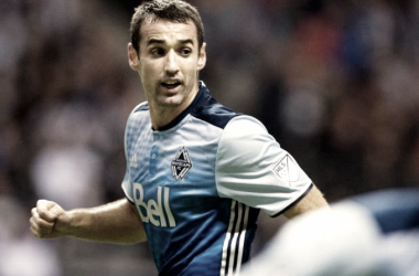 Andrew Jacobson in his debut season with the Vancouver Whitecaps. | Photo: Gerry Kahrmann / PNG