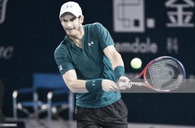 Andy Murray durante el torneo de Shenzen. Foto: Getty Images.