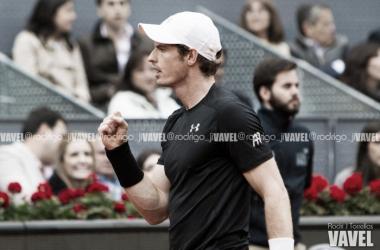 Murray celebra un punto durante el pasado MMO. Foto: Rodrigo Jiménez Torrellas - VAVEL