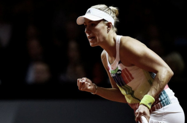WTA Stuttgart: Angelique Kerber prevails against Petra Kvitova in three-set thriller