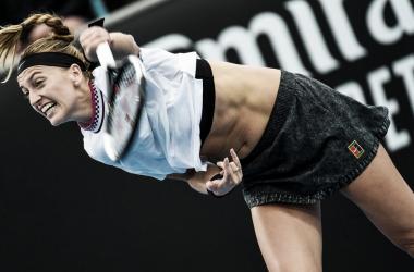 Kvitova fez partida perfeita para avançar na Austrália (Foto: Divulgação/WTA)