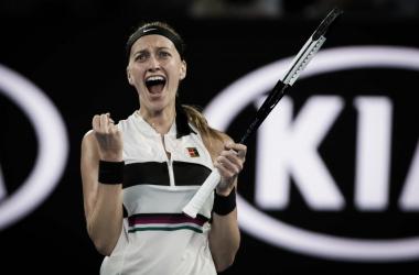 Kvitova fez mais uma bela campanha e alcança como prêmio sua primeira final no Australian Open, primeira final em major desde seu incidente em 2016 (Foto: Divulgação/WTA)