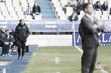 Anquela durante un partido con el Oviedo | Foto:LaLiga
