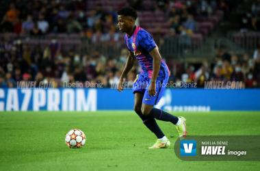 Ansu Fati el pasado miércoles ante el Dinamo de Kiev en Champions