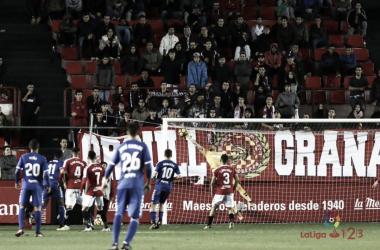 Imagen del segundo gol del Lorca. Fotografía: La Liga 123