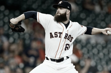 Dallas Keuchel durante un partido con los Houston Astros / Foto: Getty Images