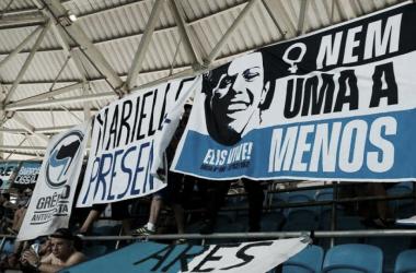 Homenagens a Marielle e Ellis Regina, ícones da luta feminina (Foto: Divulgação/Grêmio Antifascista)