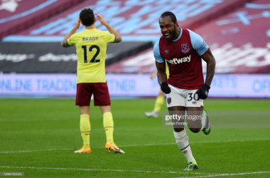 West Ham United 1-0 Burnley: Early Michail Antonio strike makes the difference