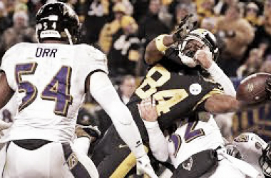 Antonio Brown realizando una anotación frente Baltimore Ravens (foto NFL.com)