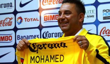 Antonio Mohamed at his press conference. Image courtesy of ClubAmerica.com.mx
