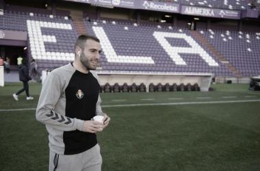 Antoñito en la previa de un partido en el José Zorrila (foto Real Valladolid)