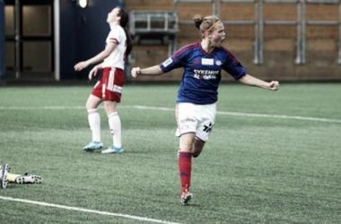 Anne Olsen's goal in Vålerenga's narrow 1-0 win over Medkila left the bottom two stranded last week. (Photo: vif-fotball.no)