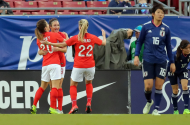 England beat Japan 3-0 at the 2019 SheBelieves Cup. | Photo: AP Photo - Mike Carlson