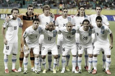 Foto tomada antes del encuentro que los celestes disputaron ante Costa Rica.