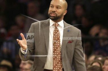 Knicks former head coach Derek Fisher. AP Images/Seth Wenig