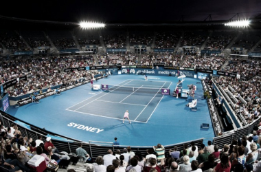 A general view of main stadium at the Apia International Sydney | Photo: Sydney Tennis