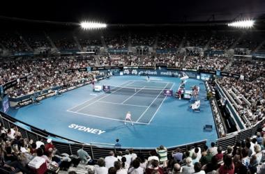 A general view of main stadium at the Apia International Sydney | Photo: Sydney Tennis