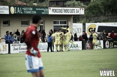 Los jugadores de la Arandina celebran un gol | Foto: Alberto Brevers - VAVEL