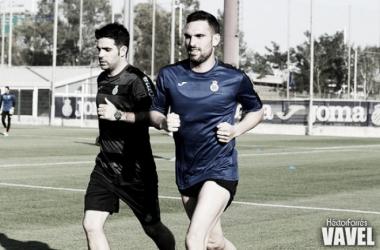 Anaitz Arbilla entrenando el año pasado con la camiseta del Espanyol (Fuente: Hector Farrés)