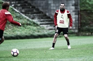 Anaitz Arbilla en un entrenamiento | Imagen: SD Eibar