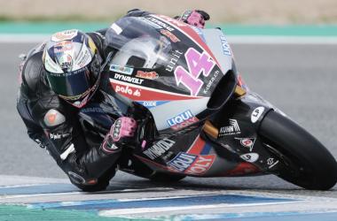 Tony Arbolino en el test de Jerez / foto: twitter.com/IntactGP