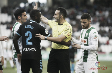 Arcediano Monescillo, en el encuentro del Córdoba contra el Lugo   LaLiga