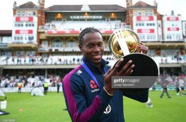 Jofra Archer has received his first test call up after proving his fitness with Sussex in the T20 Blast   Photo by Jordan Mansfield via Getty Images