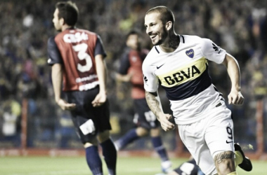 Darío Benedetto fue figura en el último duelo ante Arsenal | Foto: Boca Juniors