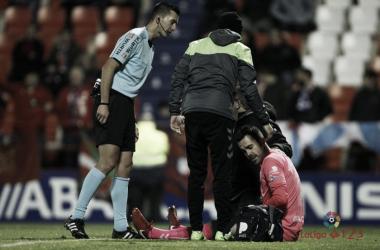 Areces Franco durante un partido de liga. Fuente: La Liga