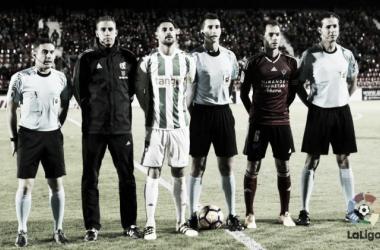 Areces Blanco antes del Mirandés - Córdoba. | Foto: La Liga.