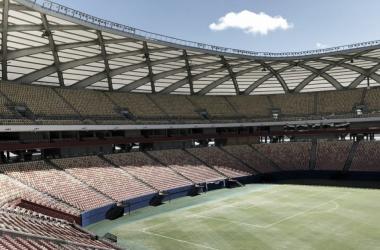 Duelos vão acontecer em março, na Arena da Amazônia; apenas um será aberto ao público (Foto: Fernando Torres/CBF)
