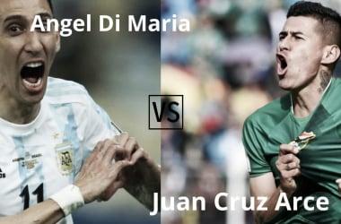 "<font color=""#333333"" face=""Ubuntu, tahoma, Arial"">Jueves 9/9 20:30 hs. Ángel&nbsp;Di María&nbsp;vs Juan Carlos Arce (FOTO: Nicolás Castillo-Vavel Argentina)</font>"