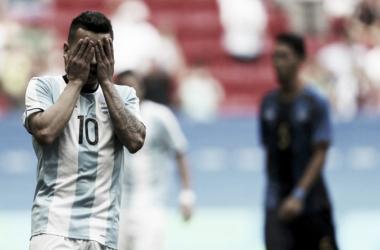 Correa, sin consuelo. Argentina acaba de quedar eliminada   Foto: Marca