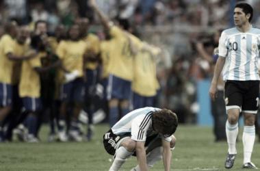 La Selección del 2007, comandada por un joven Messi y un Riquelme en su máximo nivel, se vio sorprendida por una Brasil que llegó a la final con más dudas que certezas (Foto: Agencia de Noticias San Luis)