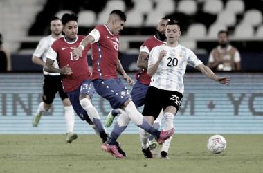 Argentina llegó a su décimo partido sin perder ante Chile por Copa América. Foto: ESPN