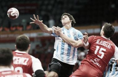 El 'Chino' Simonet tuvo que abandonar el partido por acumular tres exclusiones. Foto: TyC Sports.
