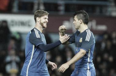 Ansaldi marcou o gol de empate (Foto: Divulgação / Federação Argentina / Twitter)