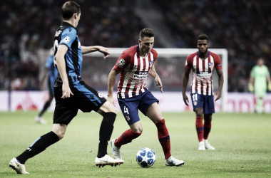 Arias disputó sus primeros minutos en el Wanda. Fuente:Atlético de Madrid