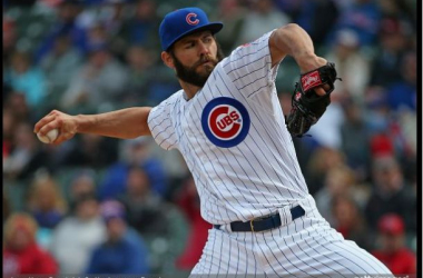 Jake Arrieta pitched seven scoreless innings over St. Louis in his 2015 debut.