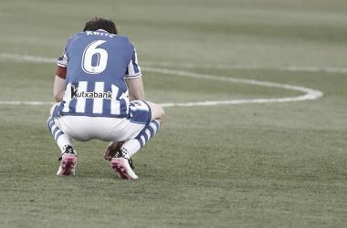 Aritz, derrotado. || Foto: Real Sociedad