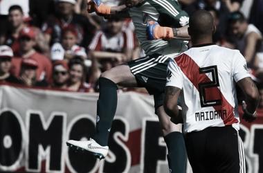 Armani no tuvo tmucho rabajo ante Sarmiento, pero igual se exigió (Foto: CARP Oficial).