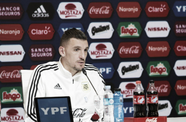 """Franco Armani: """"El objetivo es buscar el Mundial"""" Fuente: AFA Oficial."""