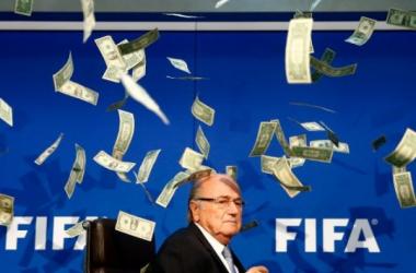 Sepp Blatter and his one true nemesis: money. (Photo credit: Arnd Wiegmann/Reuters)