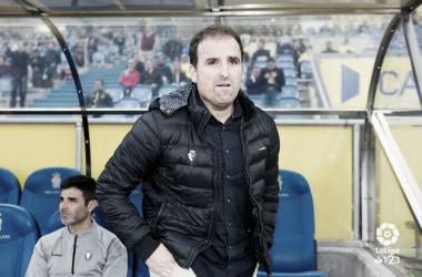 Jagoba Arrasate durante el partido en Las Palmas. Foto: LaLiga 1|2|3