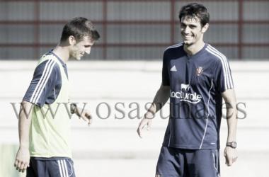 Arribas en un entrenamiento // Fuente: Osasuna.es